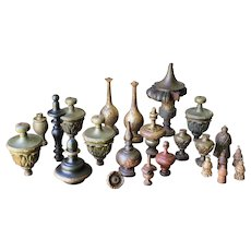Set of 23 Architectural Finials, Salvage Architectural, 18th Century, Baroque