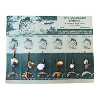 Set of 2 Vintage Fishing Lure Display Card: The Colorado Spinner Abbey & Imbrie New York