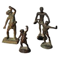 Set of 4 Bronze Grand Tour Figurines, European