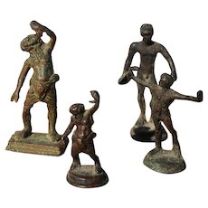 Set of Four Antique Bronze Grand Tour Figurines, Continental