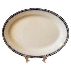 Staffordshire Transferware Serving Platter 19th Century Stoke on Trent G Bros England