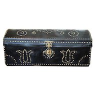 18th/19th Century Portuguese Studded Leather Dome Top Trunk