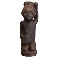 The Worker Statue, Carved Stone Figurine, African Tribal Art