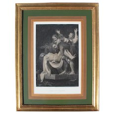 The Entombment of Christ, after Caravaggio, 1809 Etching, Engraving
