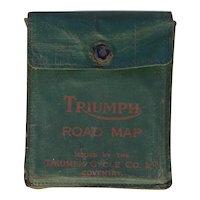 Very Rare Antique Set of 8 British Triumph Motorcycle Maps, Circa 1930