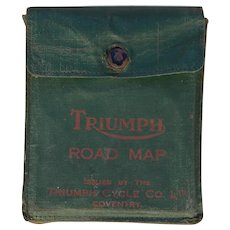 Very Rare Antique Set of 8 British Triumph Motorcycle Maps, Circa 1930