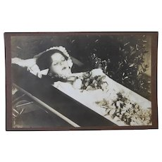 19th Century Victorian Post Mortem Photo of a Young Girl