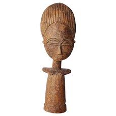 Vintage Akua'ba Fertility Figure - ASHANTI - Ghana, Tribal Art, Wood Carved