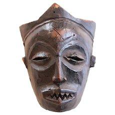 Vintage Female African Mask, Mwana Pwo, 1950