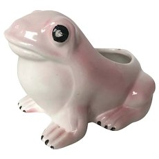 1970's Vintage Hobnail Frog Planter in the style of Jean Roger
