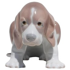 Vintage Lladro Puppy Dog Figurine, Porcelain