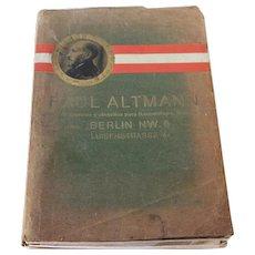 Vintage Medicine / Medical Instruments Catalog / Book, (Spanish Version) Paul Altmann, Fabrica de Aparatos y Utensilos para Bacteriologia, Quimica, etc. Berlin NW6, Luisenstrasse 47