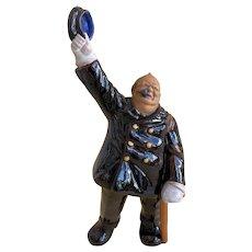 Winston Churchill, Rare Bordallo Pinheiro 1940s Satire, Palissy Ware, Earthenware