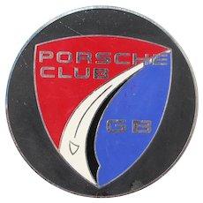Vintage Car Grille Badge Porsche Club GB Great Britain