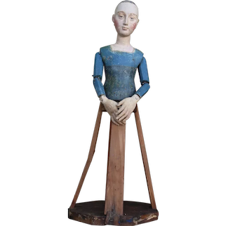 18th Century Portuguese Santos Cage Doll, marked with the Christian Cross