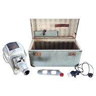 """Vintage """"Working"""" Noris (Plank) Projector Slide Projector + Slide Holder + Case"""