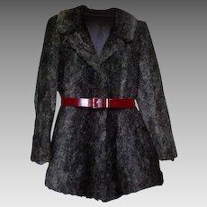 Retro Vintage 70s Astrakhan Persian Lamb Karakul Sheepskin Jacket Coat