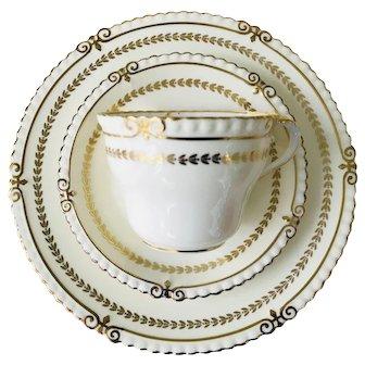 Aynsley Princeton Tea Trio Pattern 7872 Teacup Saucer and Tea Plate