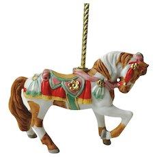 Lenox 1989 Carousel Horse Pony Christmas  Ornament