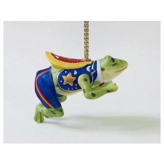 Lenox 1989 Carousel Frog Prince Christmas Tree Ornament