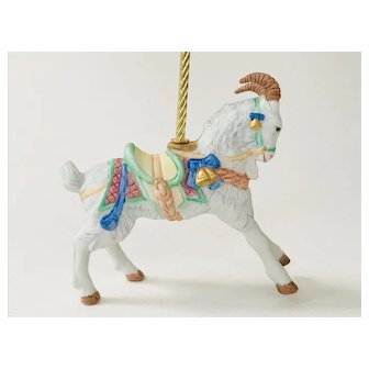 Lenox 1989 Carousel Billy Goat Christmas Tree Ornament