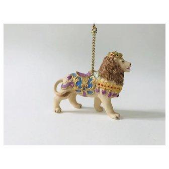 Lenox 1989 Carousel Lion Christmas Tree Ornament