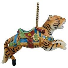 Lenox 1989 Carousel Tiger Christmas Tree Holiday Ornament