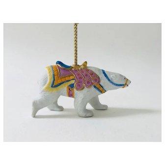 Lenox 1989 Carousel Polar Bear Christmas Tree Ornament