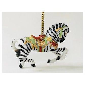 Lenox 1989 Carousel Zebra Christmas Ornament