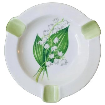 Shelley Ashtray Dainty Lily of the Valley Pattern 13822