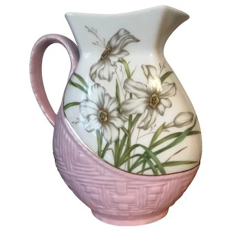19th Century Haviland & Co Limoges Water Pitcher
