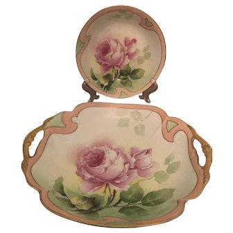 Art Nouveau Coronet Limoges hand painted bowls (2)
