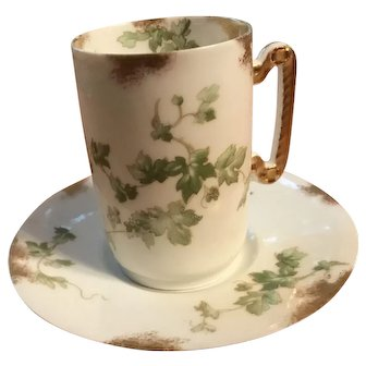 Delinieres & Co Limoges France Demitasse cup and saucer