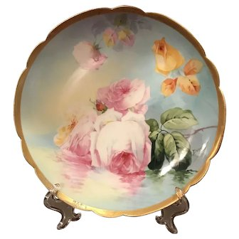 Coronet Limoges Plate Hand painted and signed
