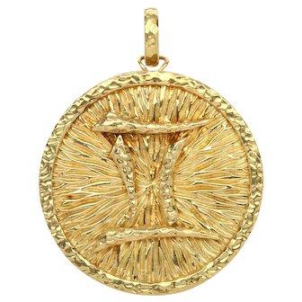 """David Webb 18k Yellow Gold """"Gemini"""" Pendant/Brooch - 1970's"""