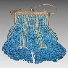 Showstopper Flapper Style Beaded Handbag