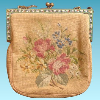 beautiful Embroidered Vintage Hand Bag