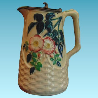 Victorian Hand painted Ironstone Pitcher