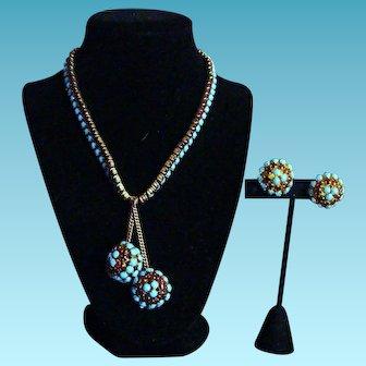 Hattie Carnegie Vintage Necklace and Earrings