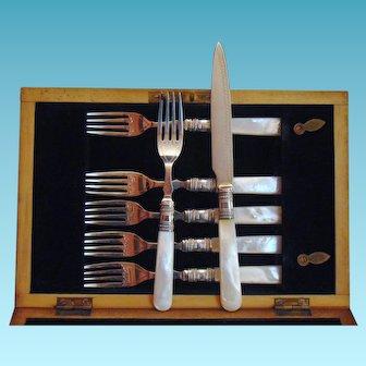 Silver Plated Dessert Set