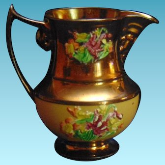 Staffordshire Cooper Lustre Ware Pitcher