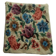English Country House tapestry & velvet cushion cover - floral design
