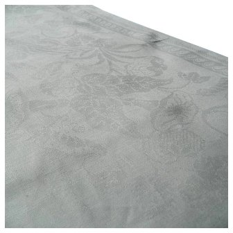 Antique c1810 Georgian hand woven huge 10ft white Irish linen damask tablecloth