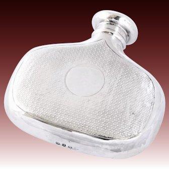 Rare Victorian Antique Silver Hip Flask 1899