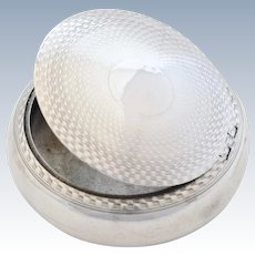 Edwardian Antique Silver Snuff Box (Squeeze-to-Open) 1905