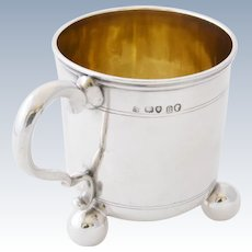 Solid Silver Christening Tankard 1868