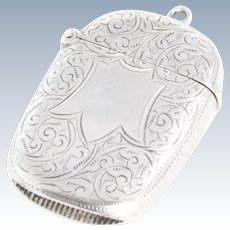 Edwardian Sterling Silver Vesta Case 1904
