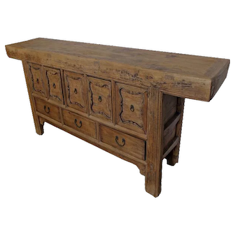 Five Doors with Carved Border Console Sideboard