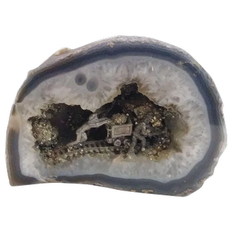 Geode with Unique  Miniature Depiction Inside