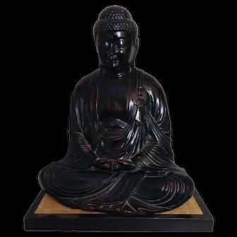Vintage Fitz & Floyd Ceramic Vernissage  Sitting Buddha